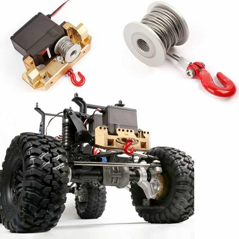 GRC 25T серволебедка барабан RC Рок Гусеничный рулевое управление лебедка аксессуары для обновления