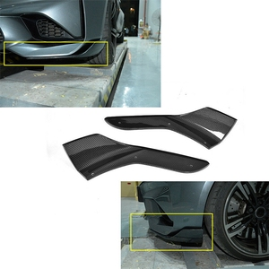 Image 4 - Carbon Fiber Front Bumper Splitters Lip Cupwings Flaps Winglets for BMW 2 Series F87 M2 Base Coupe 2 Door 2016   2018