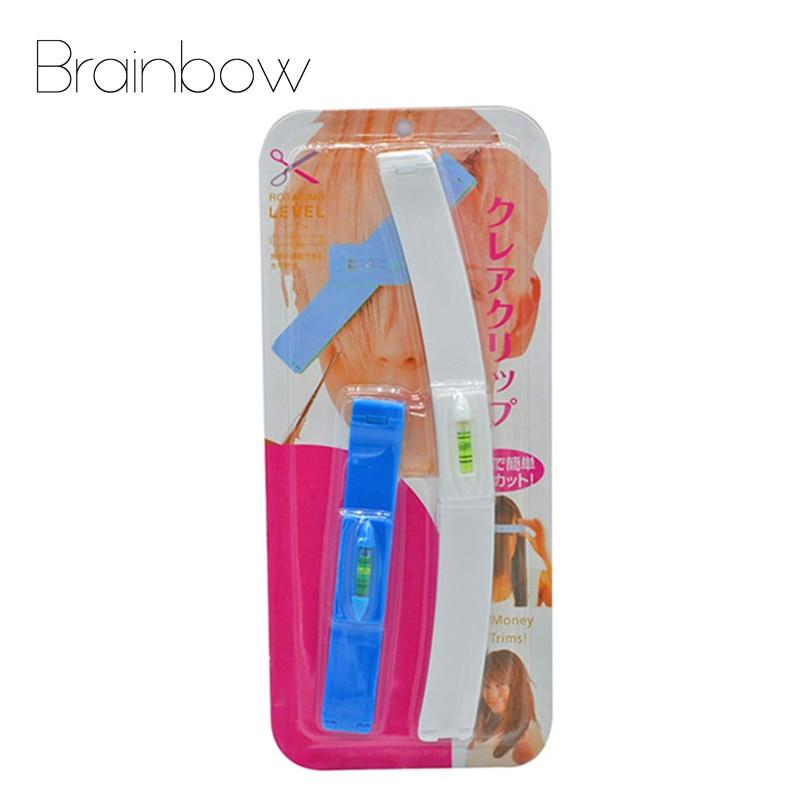 Женский Триммер для волос Brainbow, 1 комплект, триммер для волос с бахромой, инструмент для стрижки волос, гребень для милых волос, линейка, аксе...