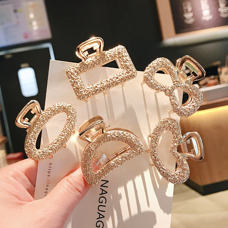 New Fashion Exquisite Medium And Small Geometric Hair Claw For Women Girls Clamps Hair Crab Metal Hair Clip Accessories Headwear