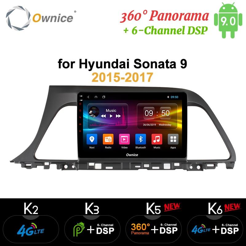 Ownice Octa Core Android 9.0 Lettore DVD Dell'automobile per Hyundai Sonata Gen 9 LF 2015 2016 2017 k3 k5 k6 unità di testa 360 Panorama SPDIF