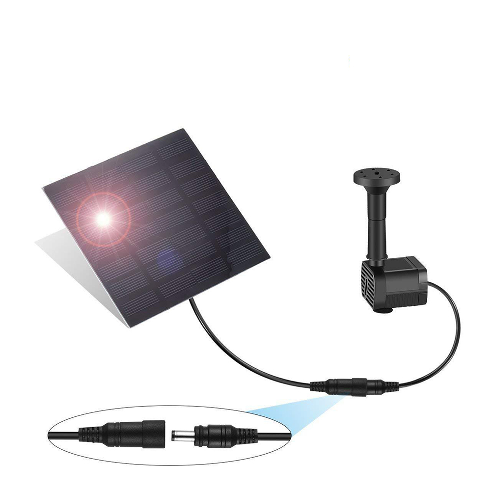 180L/H Solar Panel Fountain Powered Water Feature Pump Garden Pool Pond Fountains Water Pump Garden Supplies