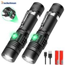 5000LM Super Bright Led flashlight USB Portable Rechargeable Flash torc