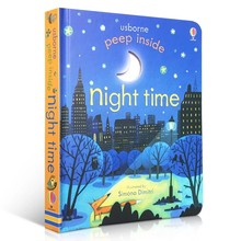 Usborne Peep Inside Night Time English Educational 3D Flap Picture Books For Baby Early Childhood gift Children reading book