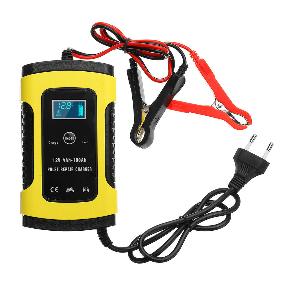 ALLSOME 12V 5A <font><b>Pulse</b></font> <font><b>Repair</b></font> LCD <font><b>Battery</b></font> <font><b>Charger</b></font> For <font><b>Car</b></font> Motorcycle Lead Acid <font><b>Battery</b></font> Agm Gel Wet Lead Acid <font><b>Battery</b></font> <font><b>Charger</b></font> image