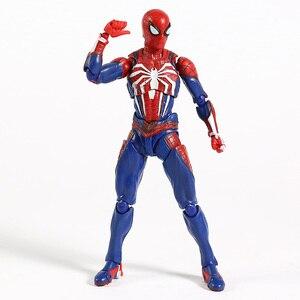 Image 4 - SHF Человек паук Homecoming пвх паук модель фигурку Бесконечность Военная Модель Коллекционная игрушка для мальчика подарки