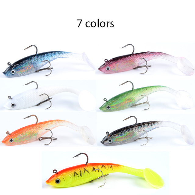 Meredith fishing 4pcs 19.4g 10cm JXJ15-10 long tail soft lead fish fishing lures luminous fishing tackle soft baits Wobblers