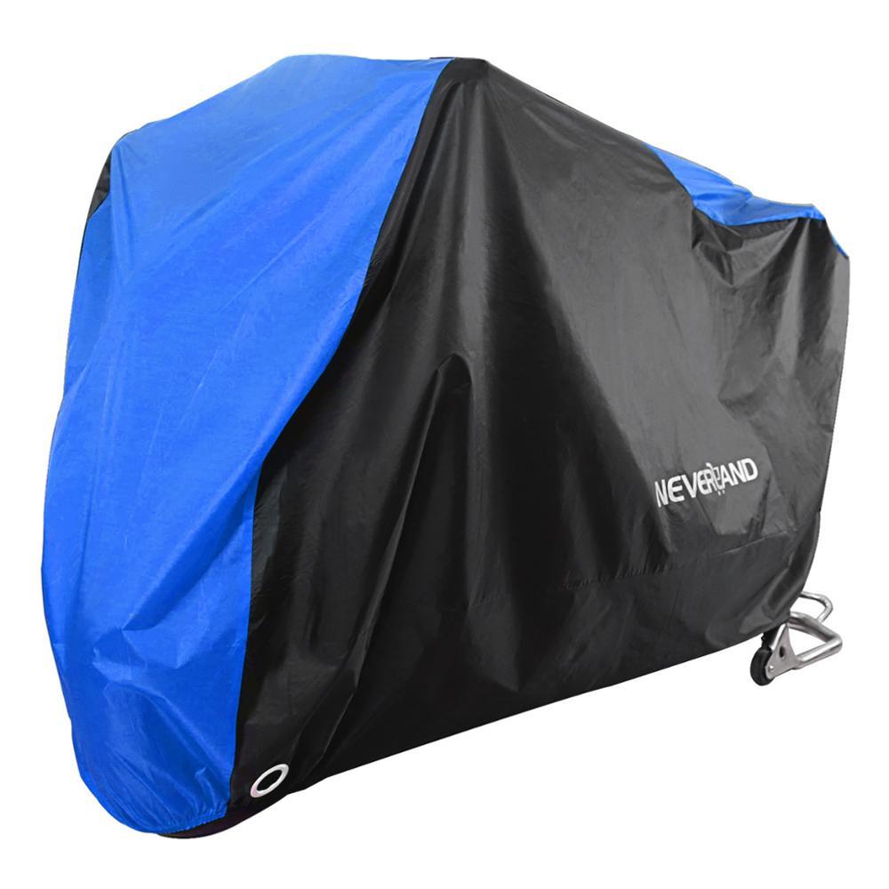 190T цвет: черный, синий дизайн Водонепроницаемый мотоцикл чехлы моторы пыли для снега и дождя; Зимние UV Защитная крышка для дома и улицы, M, L, XL,...