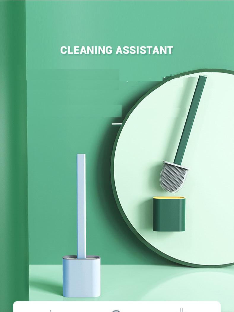Tpr щетка для уборки унитаза настенный мягкий клей с длинной