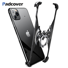 Padcover luxury Bat Shape Metal case For Iphone 11 pro max protections shockproof Anti-fall shell Bumper