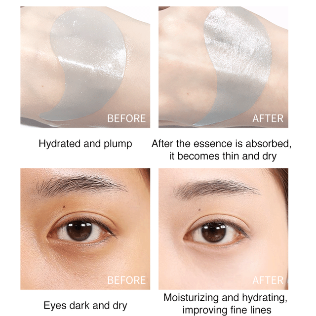 60Pcs Makeup Under Eye Patches Mask Hydrogel Collagen Mask Wrinkles Cosmetics Skin Care Gel Eye Mask Patches Korean Cosmetic Gel 4