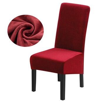 Real velvet fox tela XL tamaño de la cubierta de la silla de gran tamaño de espalda larga Europa estilo fundas para restaurante Hotel Fiesta banquete evento