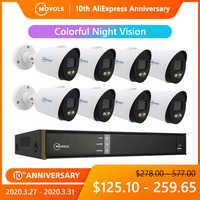 Movols 1080P kolorowe Night Vision zestaw cctv na zewnątrz wodoodporny system monitoringu wizyjnego 8CH DVR 8 sztuk/4 sztuk kamera ochrony zestaw