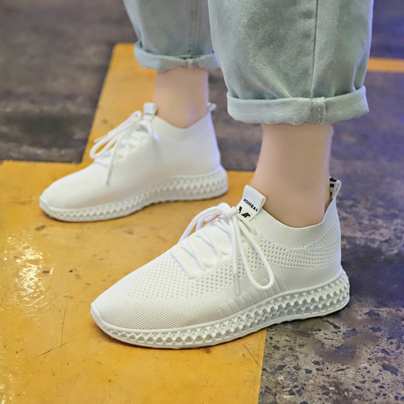 Women Flats Vulcanized Shoes Autumn Casual Comfortable Breathable Mesh Platform Shoes Female Fashion Sneakers C0038