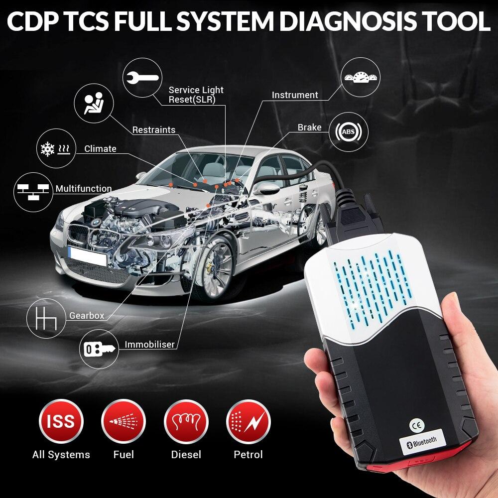CDP TCS multidiag pro+ Bluetooth USB,00 keygen V3.0 реле NEC obd2 сканер автомобилей грузовиков OBDII диагностический инструмент
