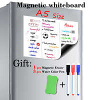 A5 Size 148mmx210mm Magnetic Whiteboard Fridge Magnets Presentation Boards Home Kitchen Message Boards Writing Sticker Magnets