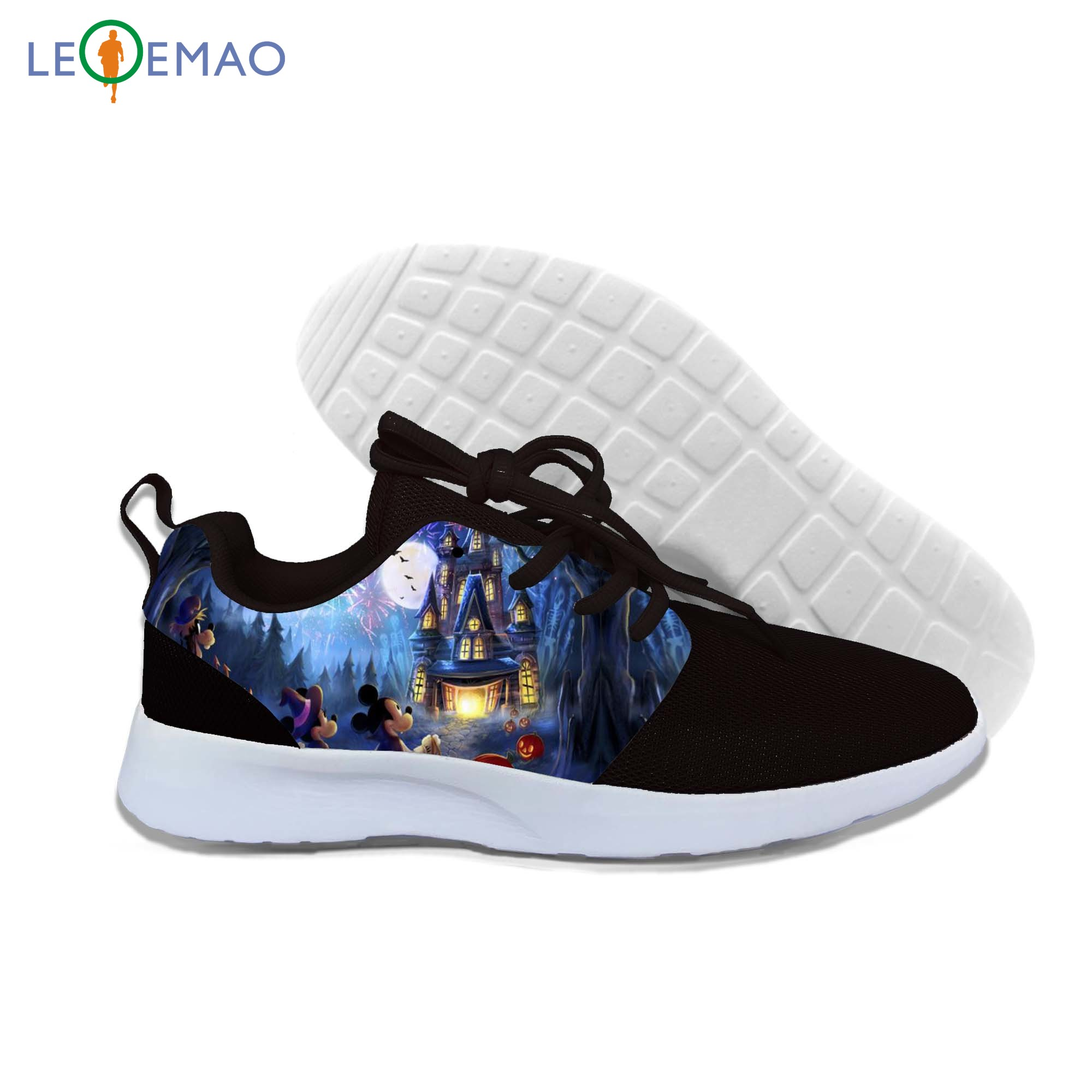 Personality Running Shoes Cool Scary Halloween Women Men Summer All Hallows' Day Shoes Walking Lace-Up Gym Casual Sneaker image