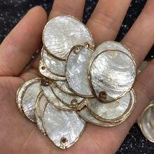 Подвески из натуральной ракушки и ожерелье подвески перламутровой