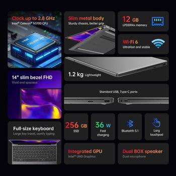 Alldocube GT Book 14 inch Windows 10 N5100 Quad Core WiFi6 12GB RAM 256GB SSD  IPS Notebook laptop computer WIN10 PC GTBOOK 2