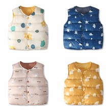 Vest Cardigan Jsckets-Coats Baby-Girl Winter for Waistcost