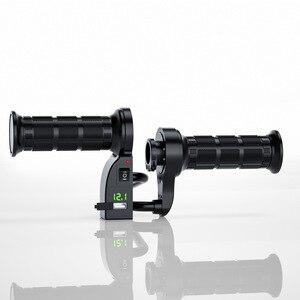 Image 1 - WUPP mango de calefacción eléctrica para motocicleta, accesorio con interruptor, pantalla digital, cubierta de mango, temperatura ajustable, para invierno, 12V