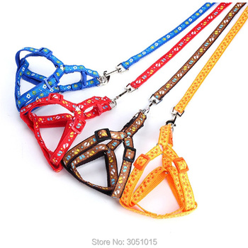 20pcs printing Adjustable Rope Pet Dog Puppy Cat Lead Leash Walking Chest Strap Training Leash Cats Dogs Harness Collar Leashes