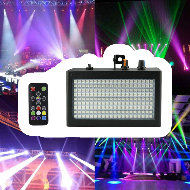 Image 2 - 180 Leds Strobe Flash Light Portable 35W Rgb Remote Sound Control Strobe Speed Adjustable For Stage Disco Bar Party Club(Eu Pl-in Stage Lighting Effect from Lights & Lighting on