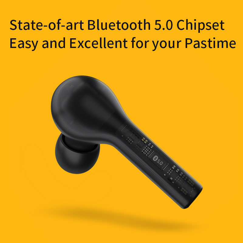 QCY T5 Wireless Bluetooth Headphones V5.0 Touch Control Earphones Stereo HD Talking with 380mAh Battery- 4