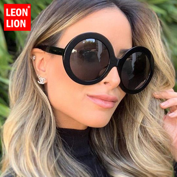 LeonLion 2019 Round Oversized Sunglasses Women Oval Women/Men Vintage Glasses for Luxury Oculos De Sol Gafas