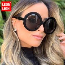 LeonLion 2019 Round Oversized Sunglasses Women Oval