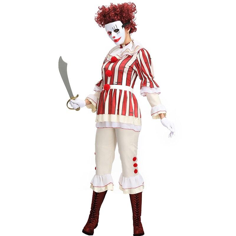 Evil Clown Corset Circus Carnival Fancy Dress Halloween Adult Costume Accessory