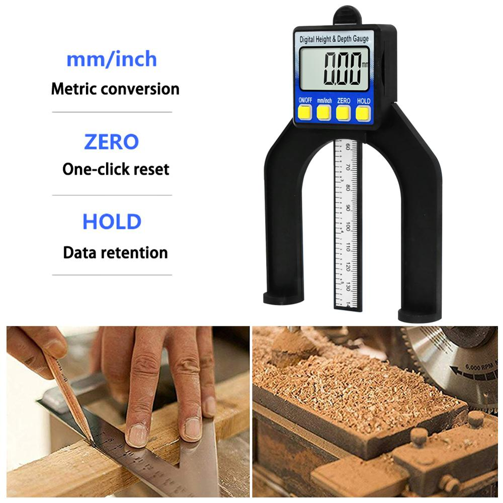 Digital Depth Gauge LCD Altimeter Pliers With Magnetic Legs For Milling Machine Woodworking Measuring Tools