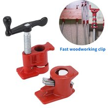Clamp-Set Woodworking Carpenter-Tool Pipe Cast-Iron Heavy-Wood Gluing Fast 1/2-