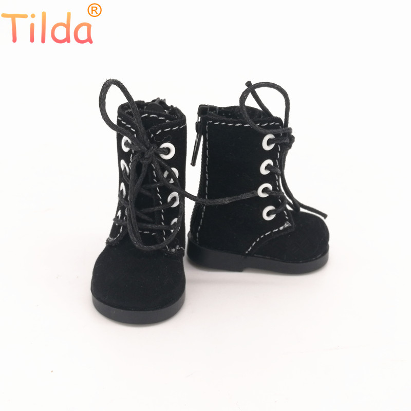 Tilda 5cm Shoes For Rag Dolls BJD Toy Casual Boots 1/6 Retro Shoes For EXO 20cm Korea KPOP Plush Dolls Accessorries For Doll Toy