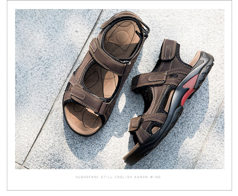 H160424f9398a4e8e9711e53234fd9a2bU - DEKABR Top Quality Sandal Men Sandals Summer Genuine Leather Sandals Men Outdoor Shoes Men Leather Shoes Big Plus size 46 47 48