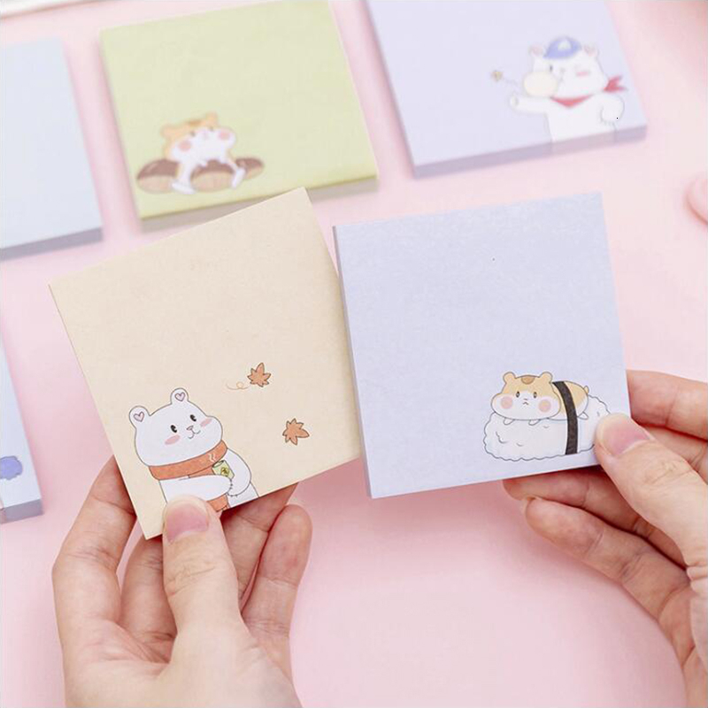 Four Seasons White Bear Sticky Notes Post Sticker Scrapbook Diary Planner Memo Pads Office Stationery School Supplies 80 Sheets