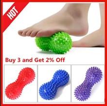 1PC Peanut Shape Massage Yoga Fitness Ball Relieve Stress pelota masaje Foot Spiky Muscle Massager Ball Foot Massage Ball