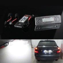 Plaque dimmatriculation de voiture CANbus, 2 pièces, lumière pour Skoda Octavia 2 Facelift 2009 – 2012, salle 5J 2003 – 2012