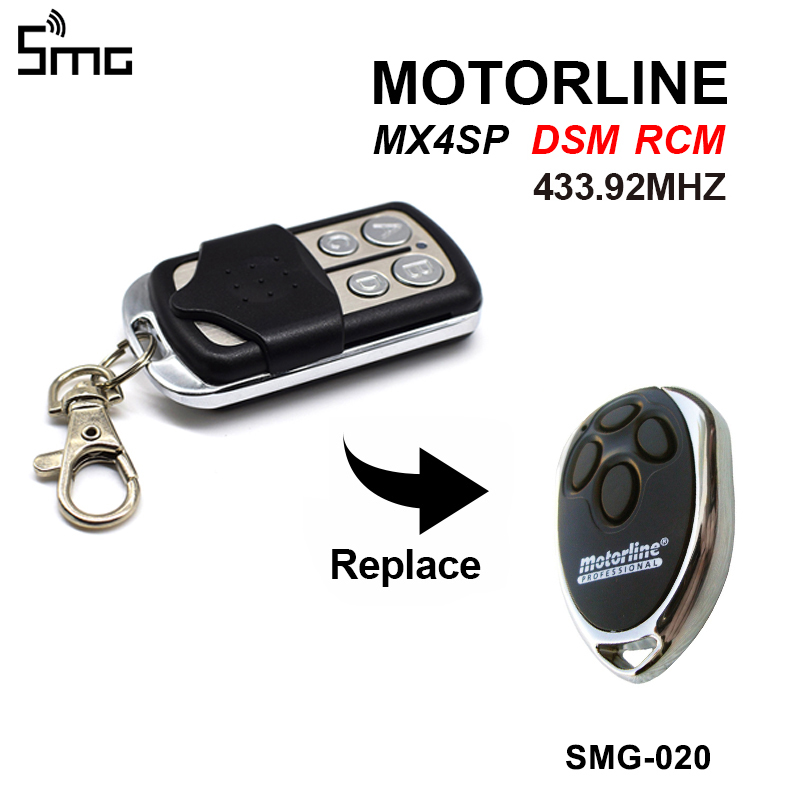 MOTORLINE Garage Door Remote Control Replacement MOTORLINE MX4SP Gate Control Key Duplicator 433.92 Garage Door