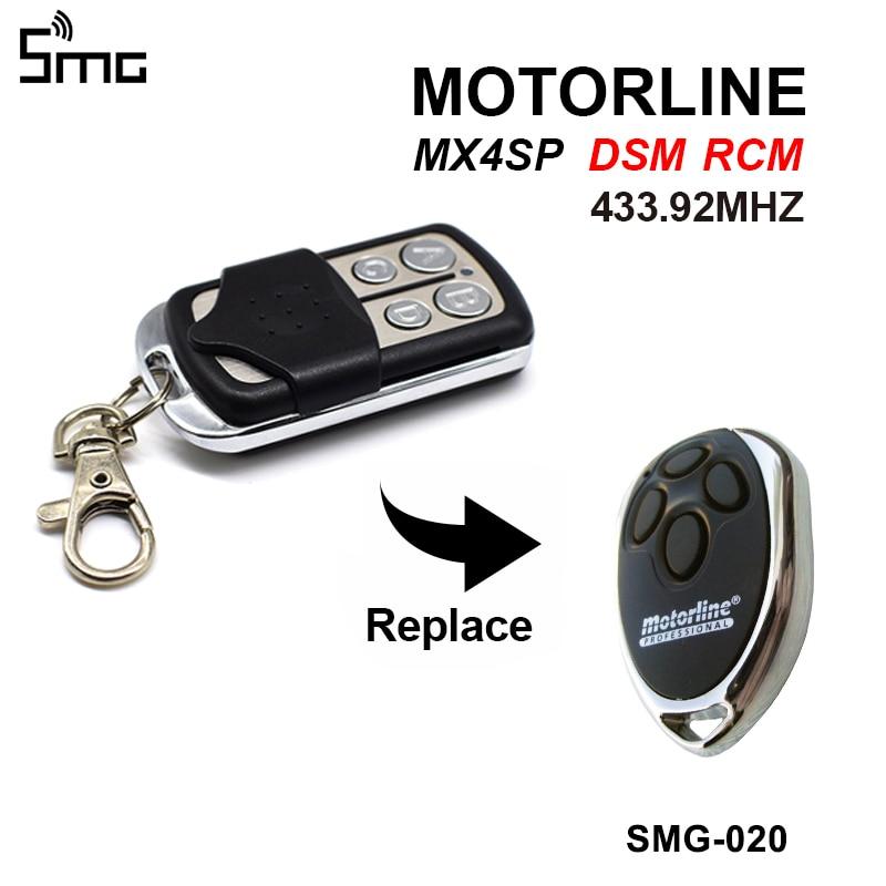MOTORLINE Garage Door Remote Control Replacement MOTORLINE MX4SP Gate Control Key Duplicator 433.92 Garage Door