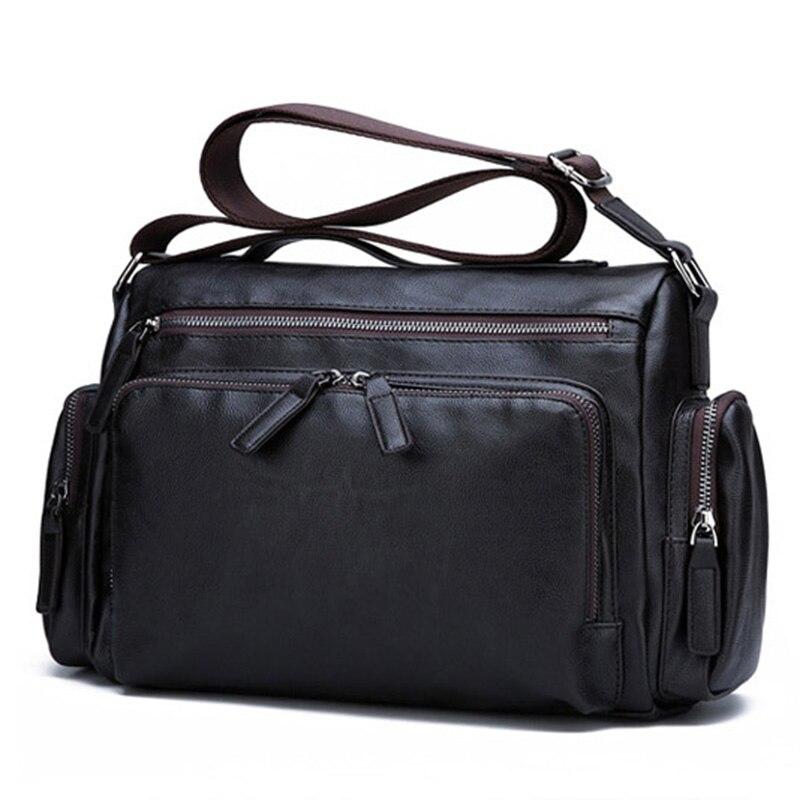Luxury Brand Men's Messenger Bag Vintage Pu Leather Shoulder Bag Crossbody Bags Fashion Casual Travel Handbags 2019