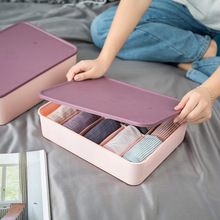 New Underwear Bra Panties Storage Box Drawer Closet Plastic Organizer Boxes Save Space Clothes Socks Scarfs Storage Box with Lid waterproof oxford cloth underwear storage box home storage kit drawer closet organizers save space foldable 13 grids