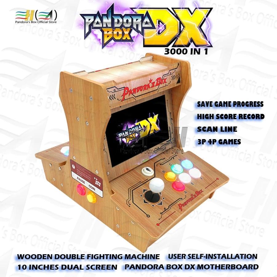 New Pandora box DX Wooden Double fighting machine 10 inches dual screen  User self-installation DIY mini bartop arcade machine