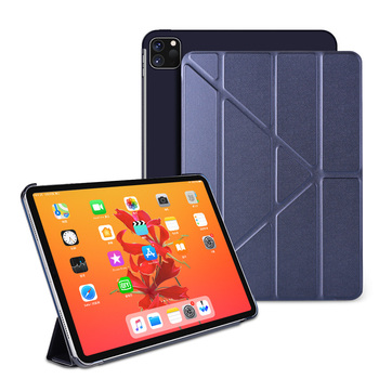 For iPad Pro 11 2020 case 2nd Gen PU Leather Multi-Fold Stand smart cover For iPad Pro 11 2018 case PC hard back Tablet case high quality hybrid stand hard pc tpu rubber armor stand case for ipad pro 10 5 cover for a1701 a1709 tablet protective shell