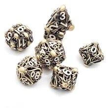 Новые металлические полые игральные кости DND комплект D20 Dados РОЛ многогранные ролевые игры кости игральные Dobbelstenen Dobbel игра Dobbelspel kostki do gry Dadi