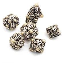 New Metal Hollow DND Dice Set D20 Dados Rol Polyhedral RPG Dice Playing Dobbelstenen Dobbel Game Dobbelspel kostki do gry Dadi