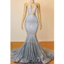 Великолепные кружевные платья русалки с блестками для выпускного