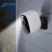 Cpvan bateria sem fio câmera 1080p ao ar livre à prova dwaterproof água recarregável câmera ip pir detecção de movimento vigilância cctv cam
