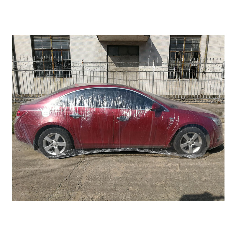 Cubierta de coche impermeable desechable a prueba de polvo Anti contaminación transparente cubierta de coche Material respetuoso con el medio ambiente