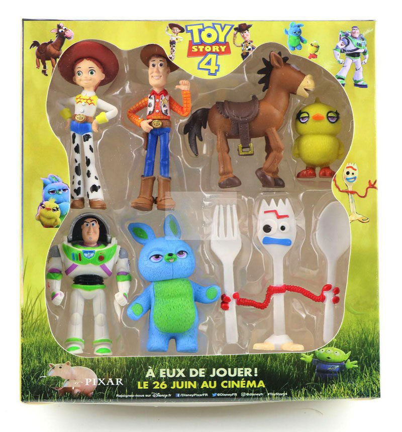 2019 Disney Toy Story 4 Cartoon Figure Toy Woody Buzz Lightyear Jessie Forky Doll Action Figure Children Gift 7pcs/set